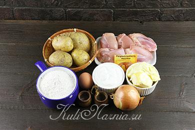 Ингредиенты для мини курников