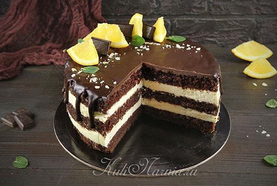 Шоколадно апельсиновый торт готов