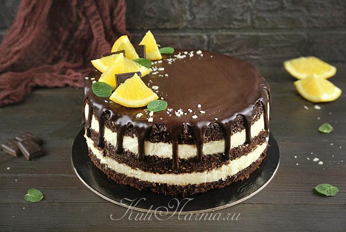 Шоколадно апелсиновый торт
