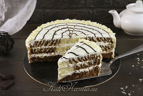 Торт зебра готов