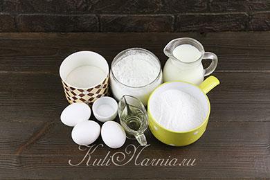 Ингредиенты для блинной из рисовой муки