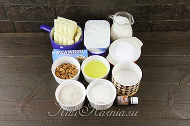 Ингредиенты для чизкейка рафаехлло