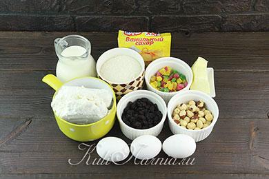 Ингредиенты для сливочной заварной паскхи