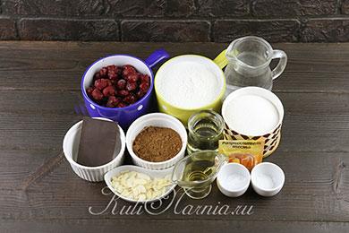 Постный шоколадный кекс ингредиенты
