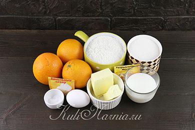 Апелсиновые панкейки ингредиенты