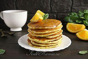 Апельсиновые панкейки рецепт