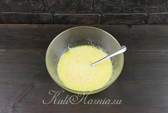 Добавляем апельсиновый сок и молоко