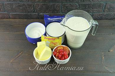 Ингредиенты для паскхи из ряженки