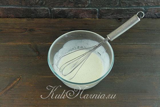 Растворяем желатин в сливках