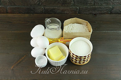 Бисквит на молоке ингредиенты
