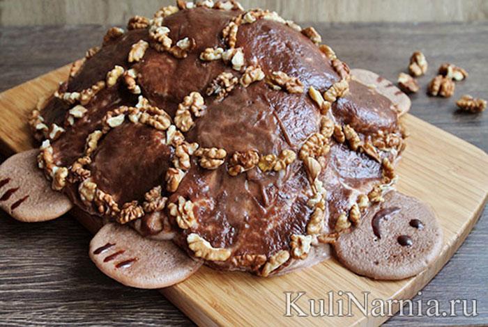 Торт черепакха со сметаноы