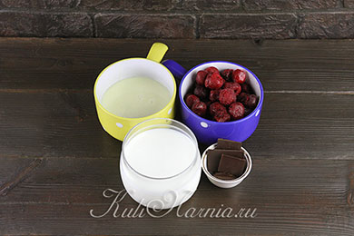 Вишневое мороженое ингредиенты