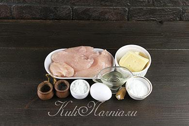 Рубленные куриные котлеты с сыром ингредиенты