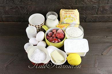 Торт с маскарпоне и клубникой ингредиенты