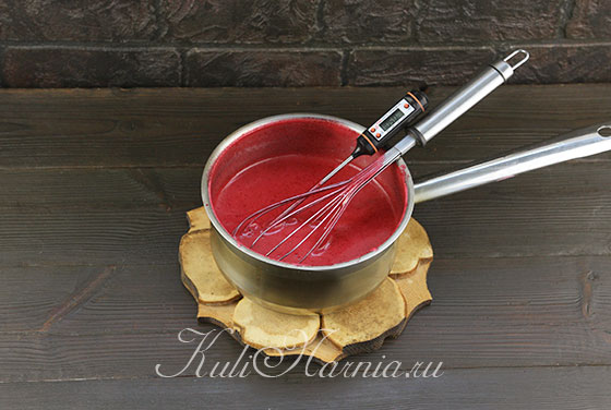 Увариваем вишневое пюре