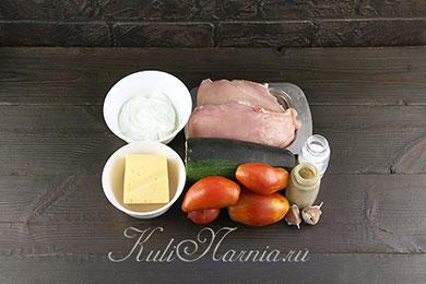 Курица с кабачками в духовке ингредиенты