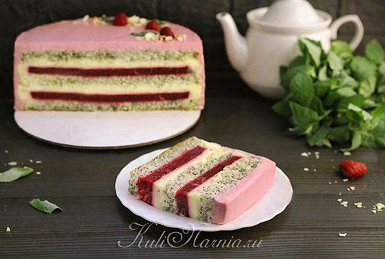 Маковый торт готов