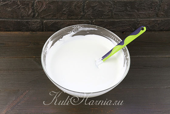 Вливаем желатин в крем